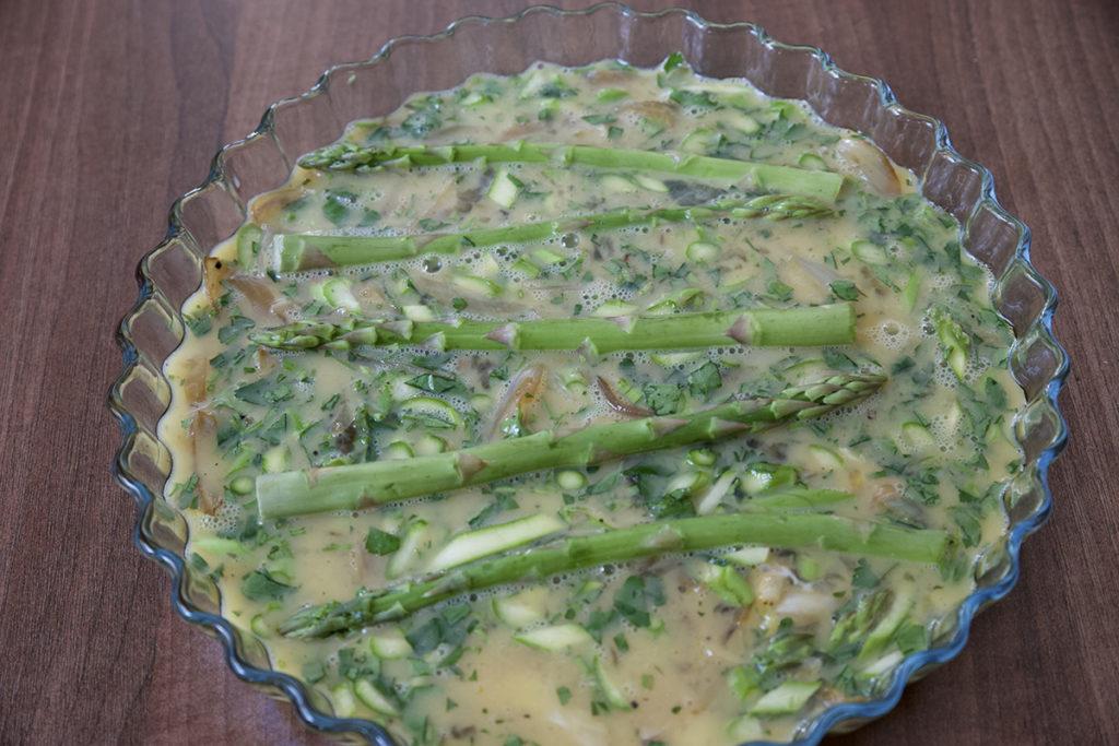Frittata asparagi asparagus cipolle white onion